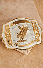 Montana Silversmiths® Large Bull Rider Scalloped Trophy Buckle
