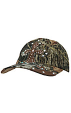 Blazin Roxx® Mossy Oak Camo with Crystal Patch Cross Cap
