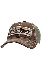 Priefert Distressed Brown & Olive with Patch Logo Snap Back Cap