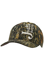 Justin Boots® Mens Mossy Oak  Embroidered Logo Flex Fit Cap