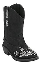 Roper® Infants Black w/ Winged Horseshoe Embroidery Western Fashion Boots