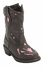 Roper® Infants Brown w/ Pink Inlay Western Fashion Boots