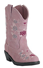 Roper® Infants Pink w/ Floral Embroidery Western Fashion Boots