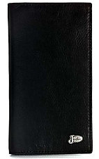 Justin® Smooth Black Checkbook