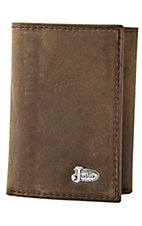 Justin® Trifold Distressed Medium Brown Wallet