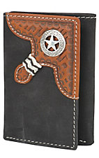 Justin® Black Distressed Tri-fold Wallet 1734401