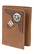 Justin® Brown Distressed Tri-fold Wallet 1734444