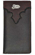 Justin® Brown Scallop Mens Rodeo Wallet/Checkbook Cover