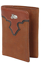 Justin® Copper Brown Tri-Fold Wallet w/ Emblem 17354216