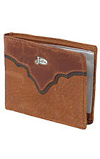 Justin® Copper Brown Bi-Fold Wallet w/ Emblem 17355216