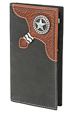 Justin® Black Bi-Fold Rodeo Wallet/Checkbook Cover 1735901