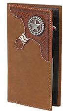 Justin® Brown Bi-Fold Rodeo Wallet/Checkbook Cover 17359217