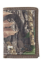 Justin® Bent Rail™ Mossy Oak Camo with Dark Brown Trim Tri-Fold Wallet