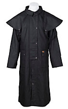 Outback Trading Co. Black Low Rider Oilskin Duster - Big Sizes