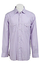 Rancho Estancia® Men's Lavender, Hot Pink & White Plaid Long Sleeve Western Shirt 20715EZE