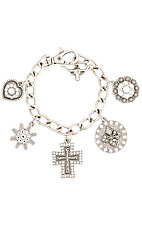 M&F Products® Large Charm Silver Braclet