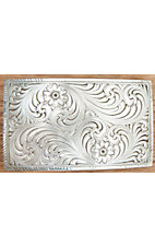 Montana Silversmiths® Antiqued Silver with Floral Filigree Rectangle Belt Buckle