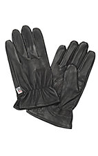 M&F® Mens Black Goatskin Gloves