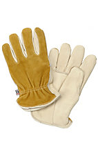 M&F® Mens Tan Cowhide Split Back Gloves