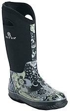 Roper® Women's Black & Blue Paisley Round Toe Muck Boot