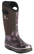 Roper® Women's Brown w/ Pink Floral Print Round Toe Muck Boot