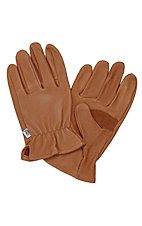 M&F® Mens Brown Deerskin Gloves