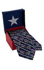 American Lifestyle® Navy w/ Texas Flag & Longhorns Neck Tie