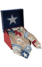 American Lifestyle® Tan Texas Postcard Neck Tie