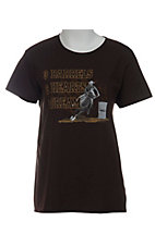 Cowboy Brand® Ladies Brown Barrel Racing Short Sleve Tee
