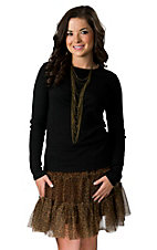 Cowgirl Justice® Ladies Brown Cheetah Print Sassy Net Skirt