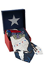 American Lifestyle® Navy Great State Of Texas Icons Neck Tie