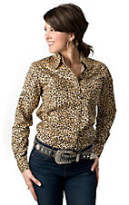 Cowgirl Hardware® Women's Cheetah w/ Horseshoe Long Sleeve Western Shirt