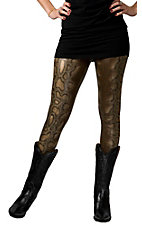 Karlie® Women's Tan Snakeskin Leggings