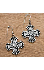 M&F Western® Maltese Cross Earrings