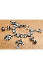 M&F Western Products® Cross Fleur De Lis Charm Toggle Bracelet
