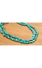 M&F Western® Turquoise Nugget Necklace 35
