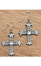 M&F Products® Cross Dangle Earrings