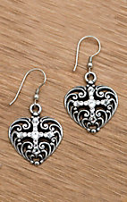 M&F Western Products® Filigree Heart Earrings