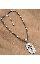 M & F® Cross Dog Tag Necklace