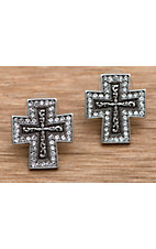 M&F Western Products Inc® Crystal Cross Earrings