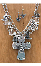 M&F Products® Cross w/ Guitar & Charms Jewelry Set