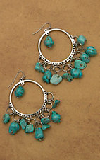 M&F Products® Turquoise Rock Chandelier Earrings