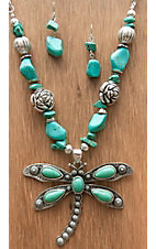 M&F Products® Silver & Turquoise Dragonfly Jewelry Set 29591