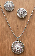 M&F Western Products® Silver w/ June Light Purple Stones Necklace and Earrings Jewelry Set 29627