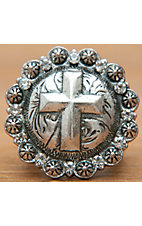M&F Products® Silver Cross Concho Stretch Ring