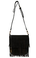 Urban Originals Chocolate Brown Burning Up Fringe Crossbody Purse