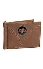 Danbury® Collegiate Collection™ Oklahoma State University Brown Bi-fold Wallet