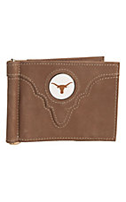 Danbury® Collegiate Collection™ Texas Longhorn Brown Bi-fold Wallet
