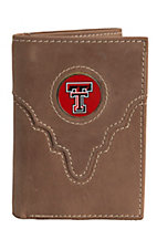 Danbury® Collegiate Collection™ Texas Tech Brown Tri-fold Wallet
