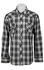Ely 1878 Men's Black & Grey Plaid Western Shirt 33203331PL